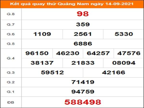 Quay thử xổ số Quảng Nam ngày 14/9/2021